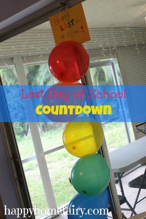 last day of school countdown at happyhomefairy.com
