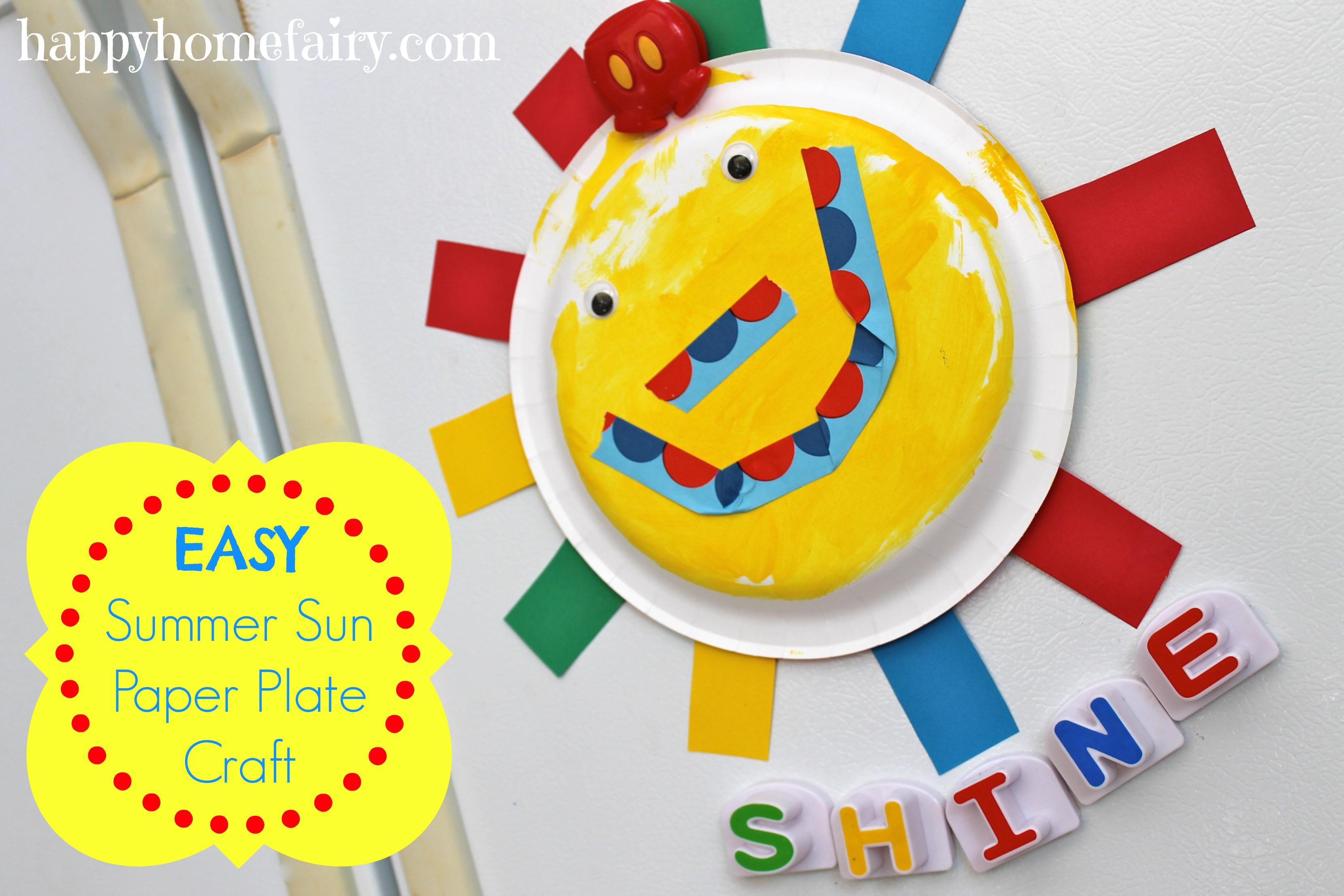 easy summer sun paper plate craft! sooo cute!  sc 1 st  Happy Home Fairy & Easy Summer Sun Paper Plate Craft - Happy Home Fairy