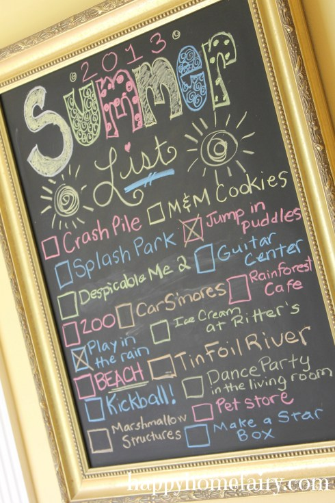 such a cute and simple summer bucket list at happyhomefairy.com!