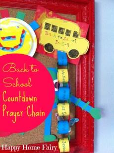 Back to School Countdown Prayer Chain
