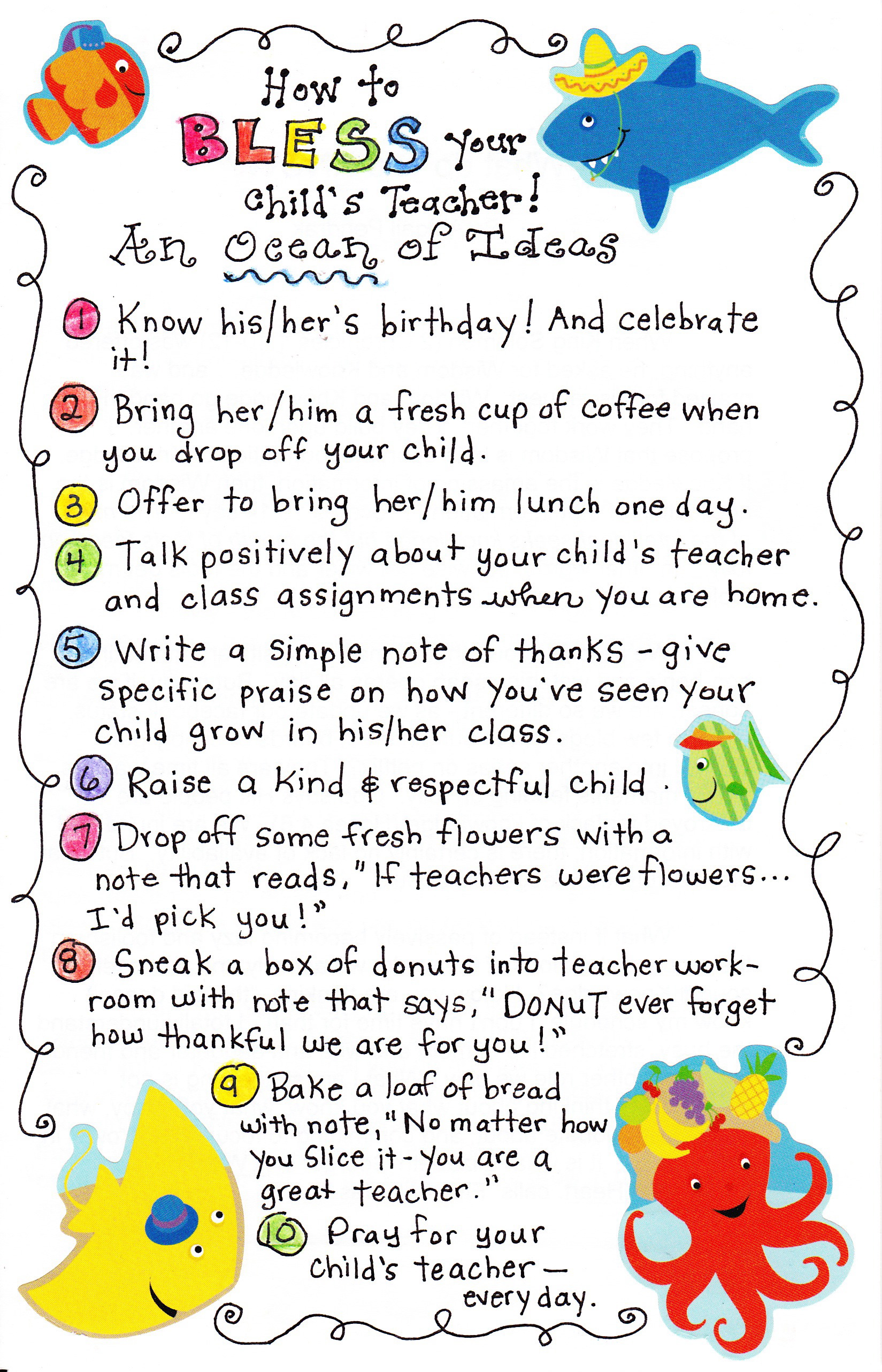 10 Ways To Bless Your Child's Teacher