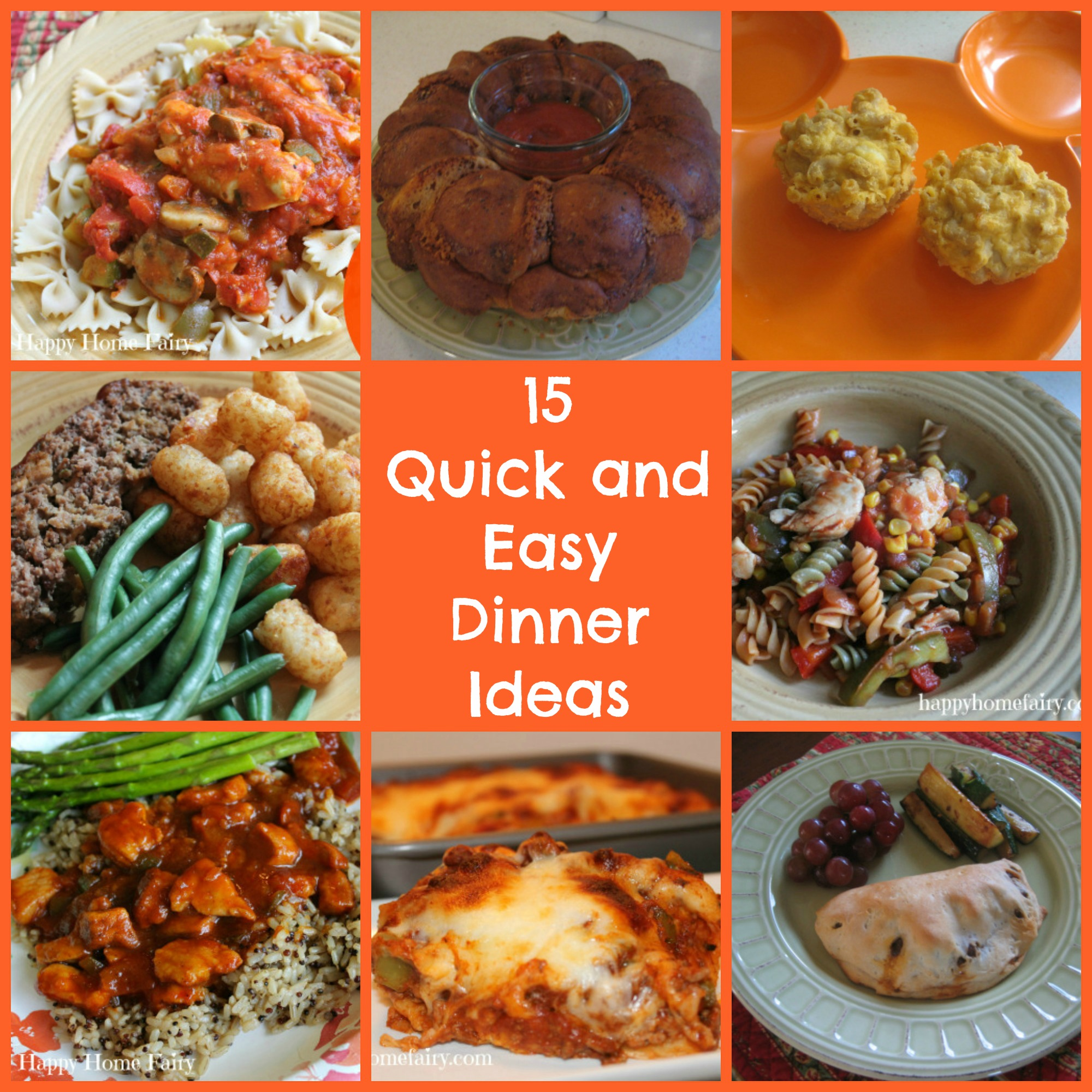 15 Quick And Easy Dinners For Busy School Nights Happy Home