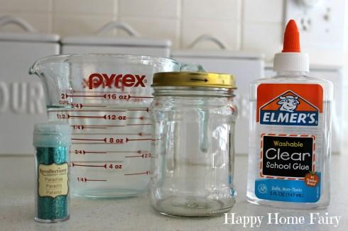 calm down glitter jar supplies