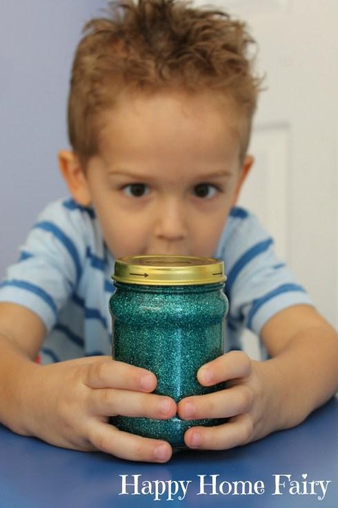 calm down glitter jar