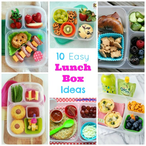 10 easy lunchbox ideas. This is easy lunchbox eye candy! All ideas are very doable and yummy. Even a picky eater could enjoy!!