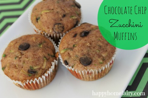 chocolate chip zucchini muffins - these are AWESOME