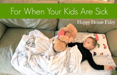 A great post to encourage you when your child is sick.