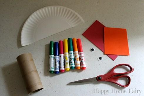 easy turkey craft - supplies