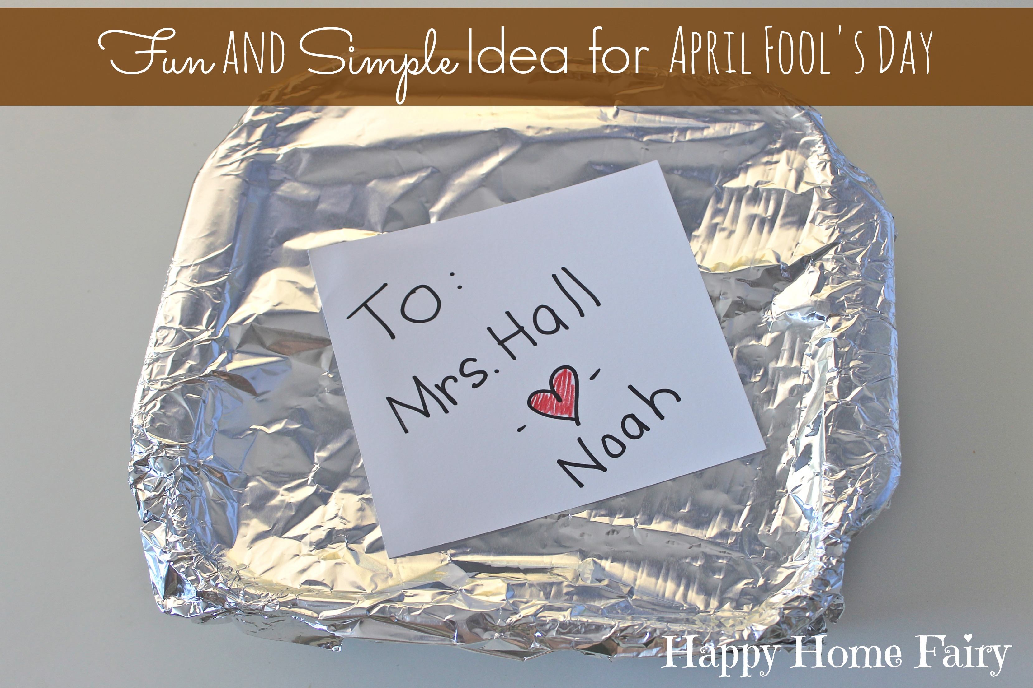 hight resolution of Last Minute Hilarious April Fool's Day Joke - Happy Home Fairy