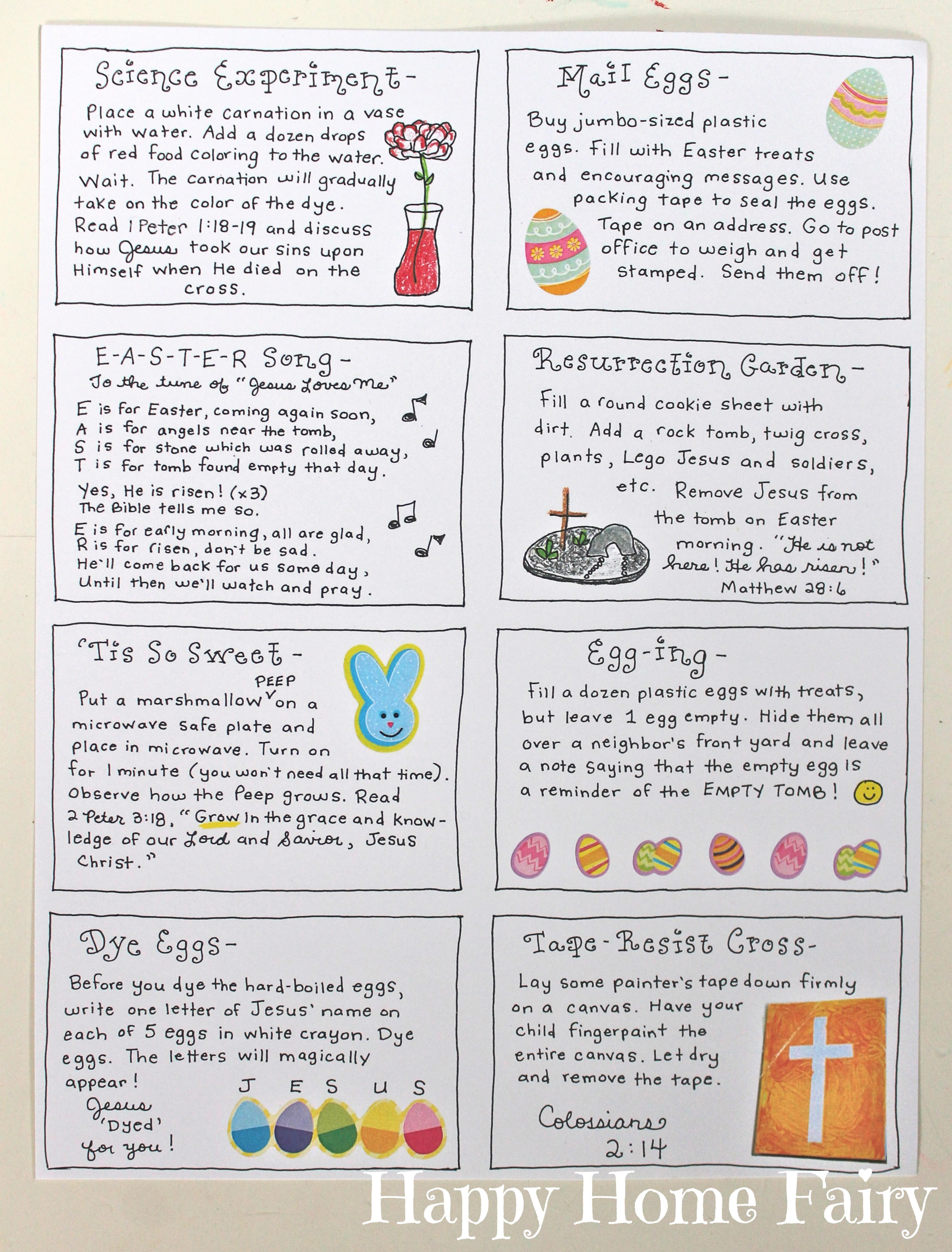 The Joy Journey - Christ-Centered Easter Activities (FREE Printable) -  Happy Home Fairy [ 3106 x 2363 Pixel ]