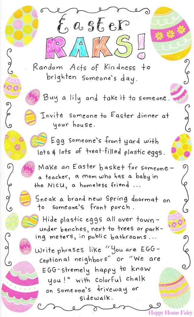 Easter RAKs at Happy Home Fairy