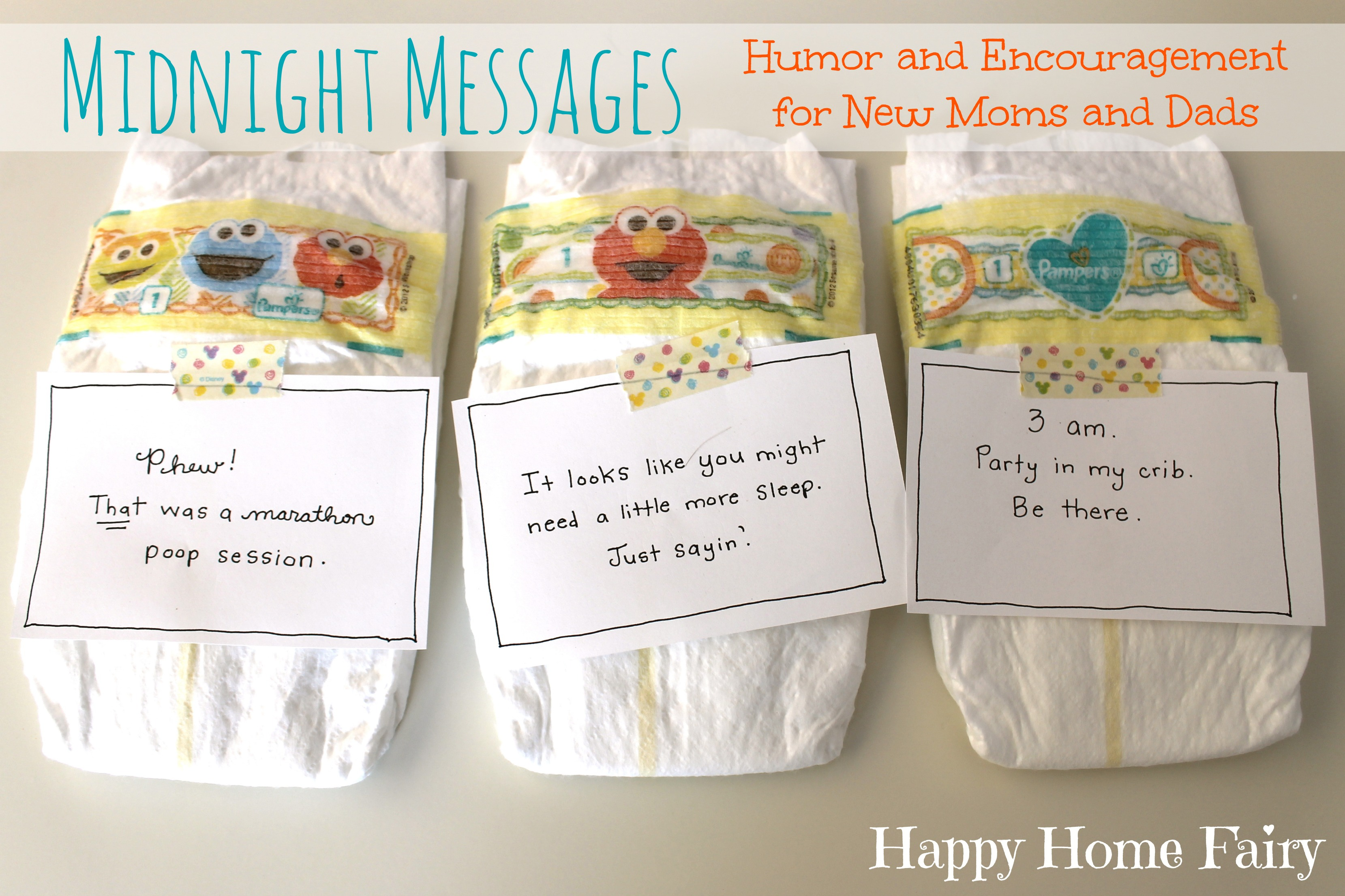 Midnight Messages   FREE Printable Notes With Hilarious Quotes From Baby  For The Middle Of The