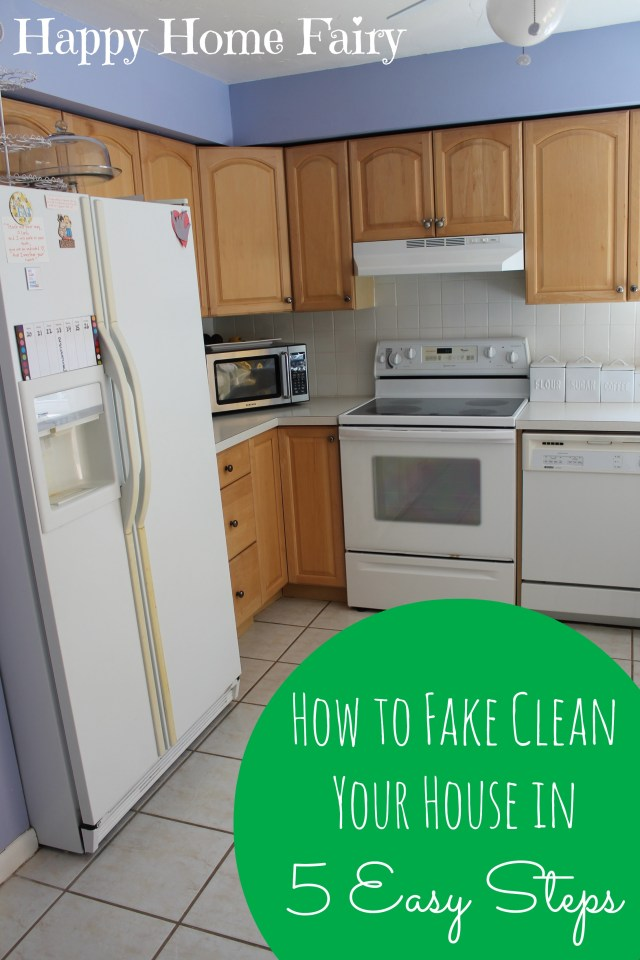how to fake clean your house in 5 easy steps. this is hilarious. i can do this and save my sanity!.jpg