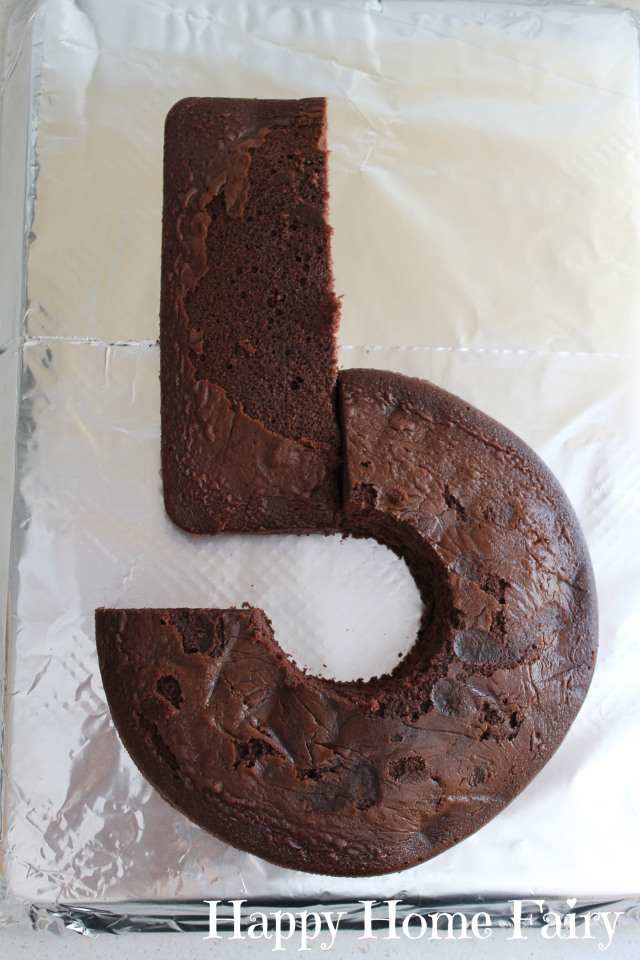 how to make a number 5 cake 6