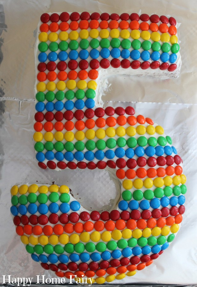 how to make a number 5 cake 9
