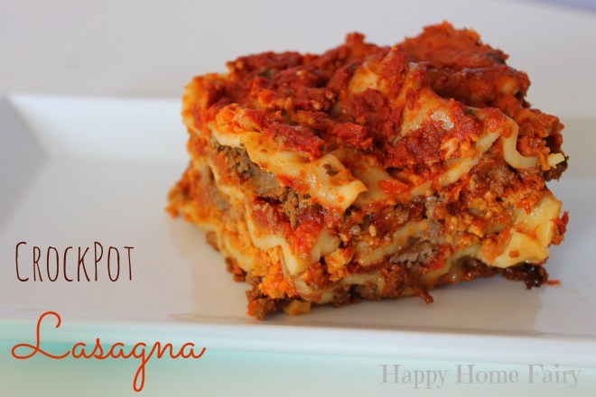 crockpot lasagna - SO easy! PErfECt for fall!