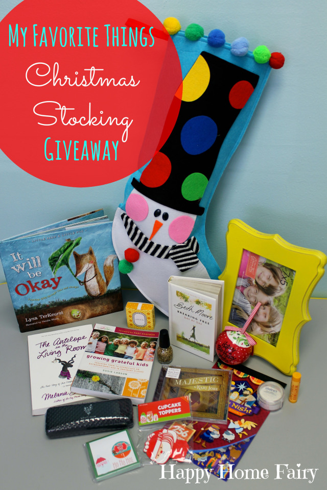 christmas stocking giveaway at happy home fairy