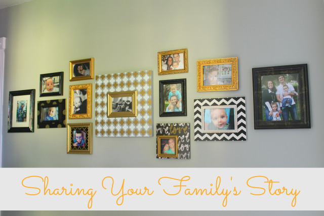 sharing your family's story on the walls of your home! love this.