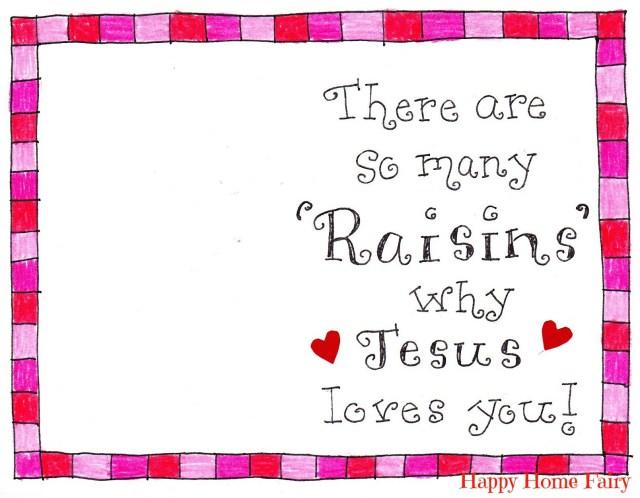 raisins valentines