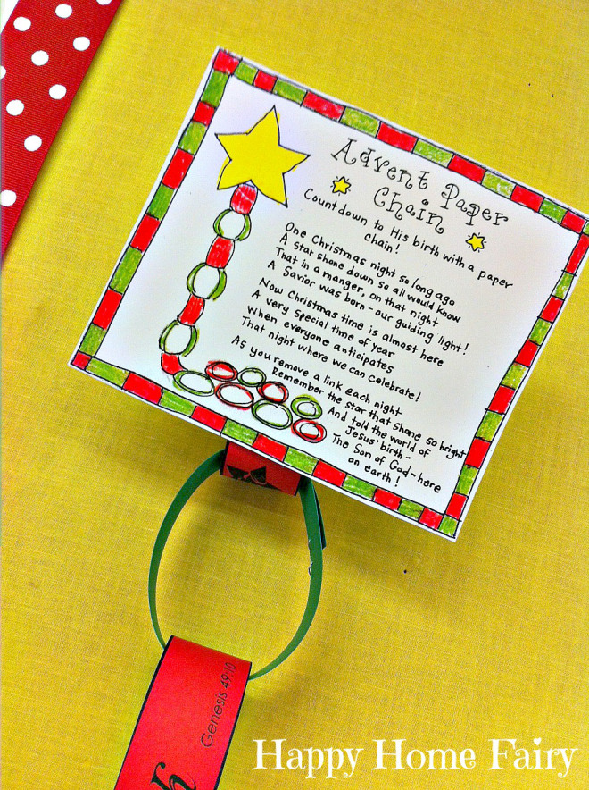 advent paper chain 1