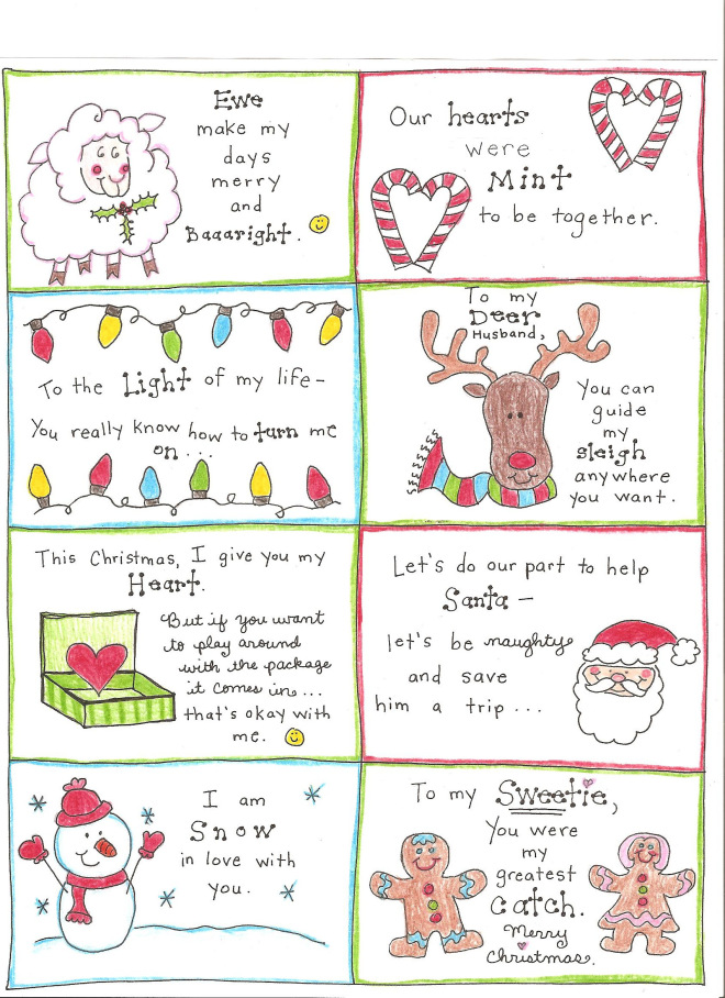 photograph about Printable Love Notes named Xmas Take pleasure in Notes for the Delighted Hubby - Totally free Printable