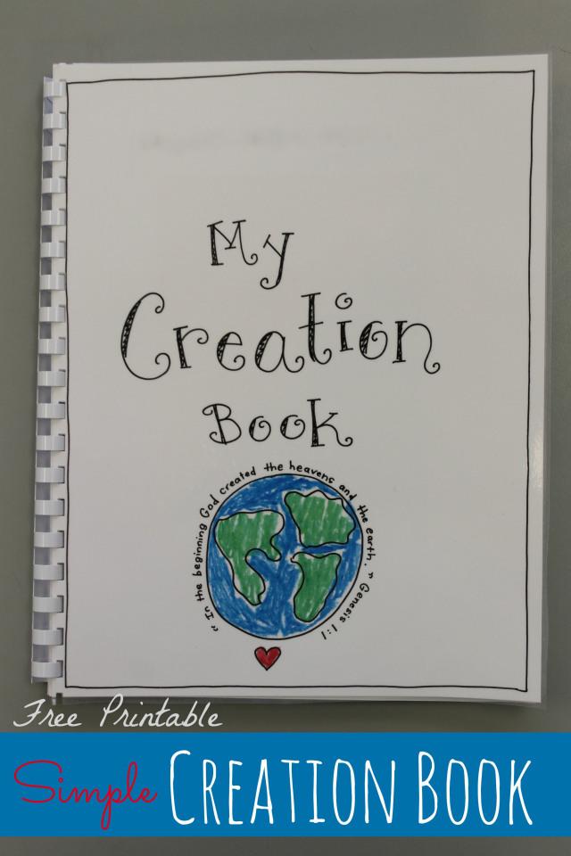 Creation Book FREE Printable Happy Home Fairy