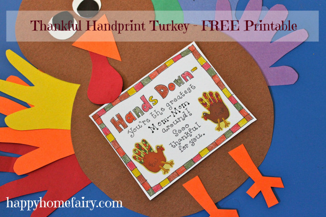 thankful handprint turkey at happyhomefairy.com