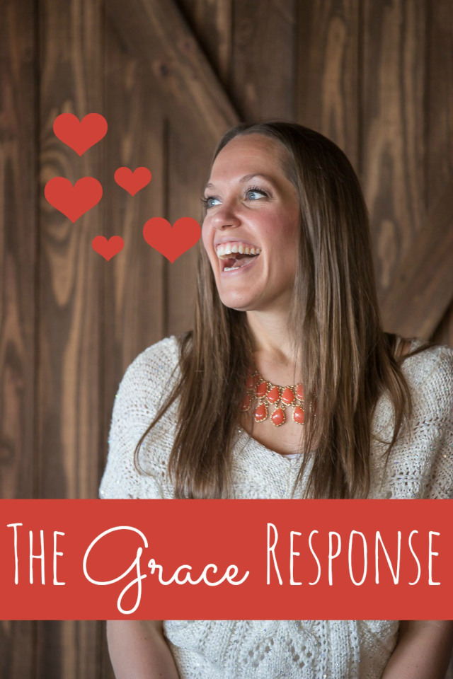 The Grace Response - learning to respond to our people in love instead of anger.