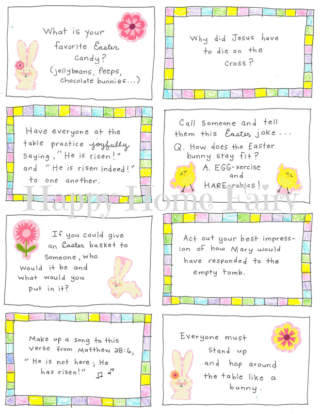 image regarding Printable Conversation Cards called Easter Interaction Playing cards - Cost-free Printable! - Content Property Fairy