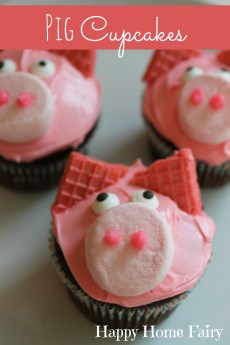Piggy Cupcakes and Happy Baby's 3rd Birthday