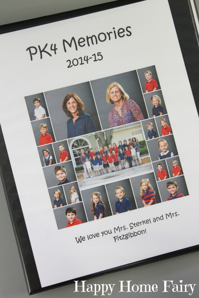 end of year book of memories for the teacher - so perfect!
