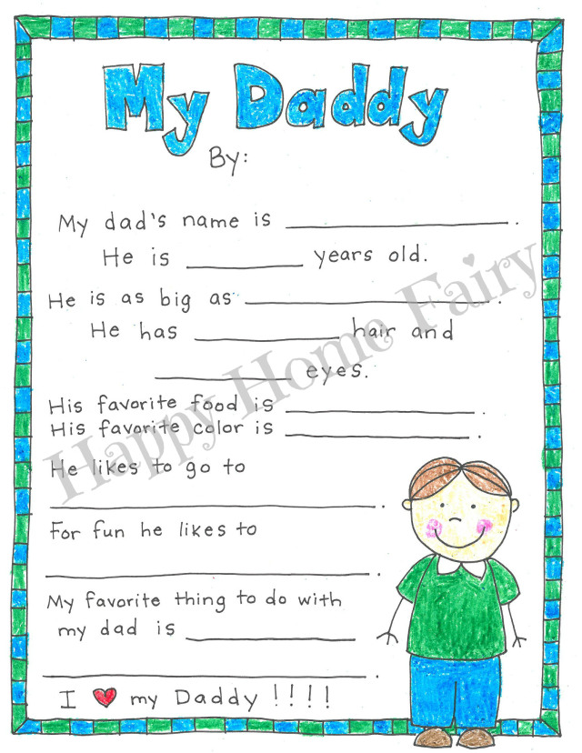 father's day printable interview