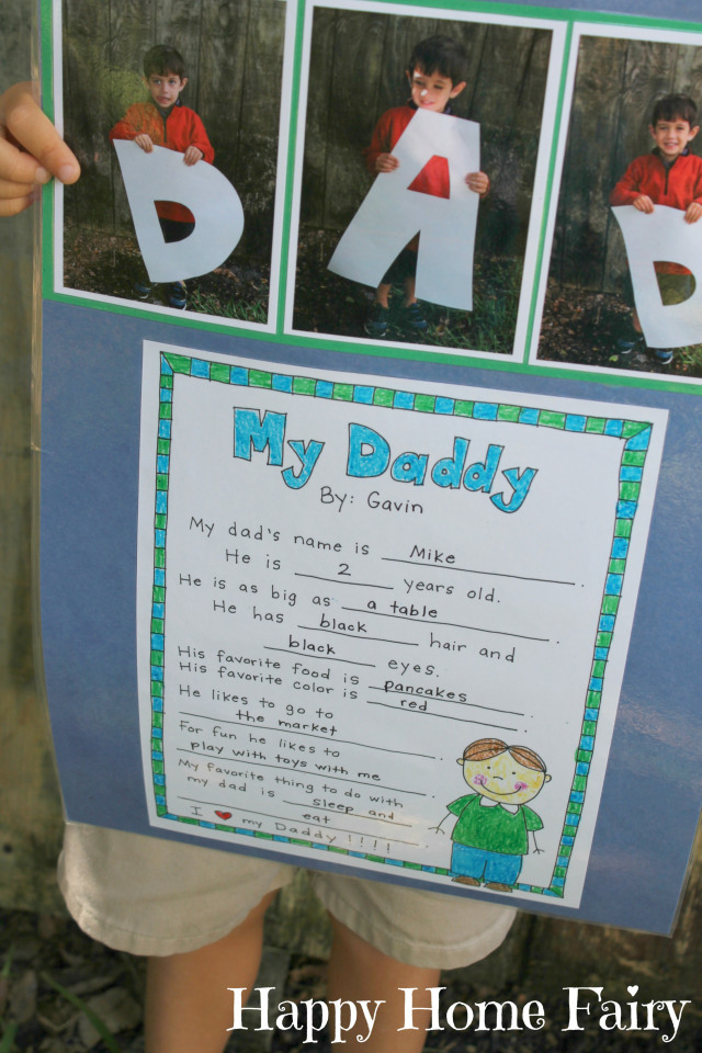 father's day project - free printable - so cute