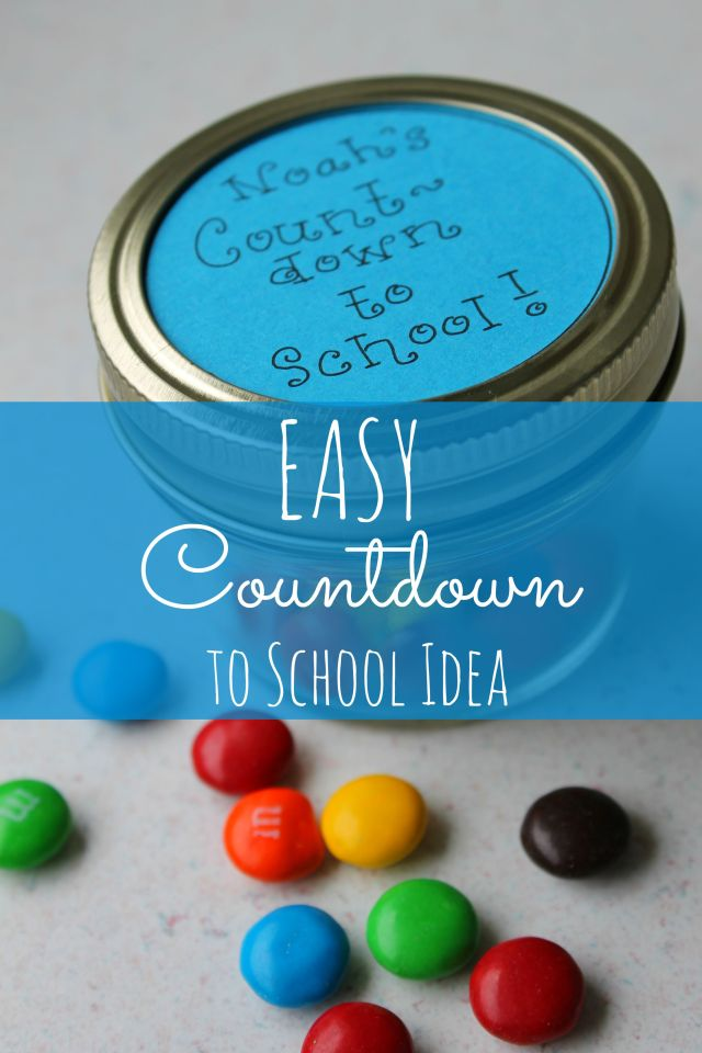 Easy Countdown to the First Day of School Idea! Your kids will love getting ready for school with this sweet idea!!