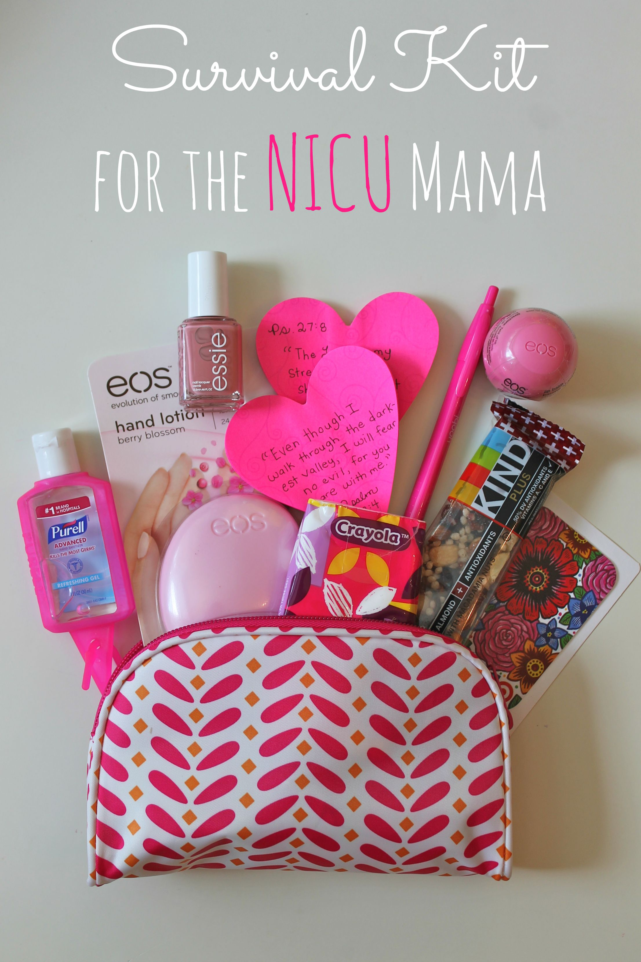 Survival kit for the nicu mama happy home fairy survival kit for a mama who has a baby in the nicu this is such negle Image collections