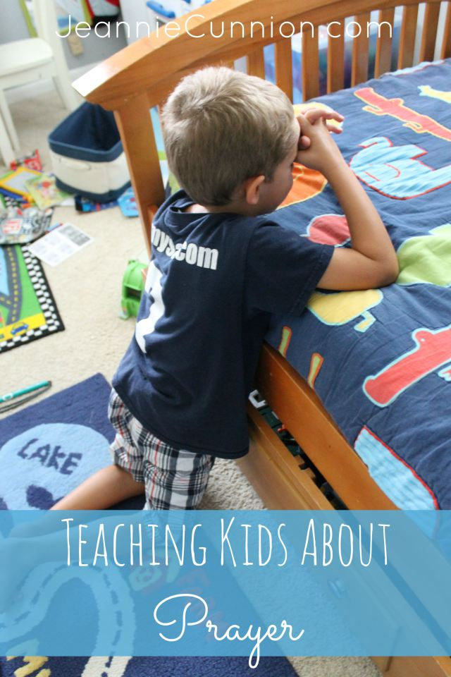 teaching kids about prayer - guest post at happyhomefairy.com by Jeannie Cunnion, author of Parenting the Wholehearted Child - love this encouragement
