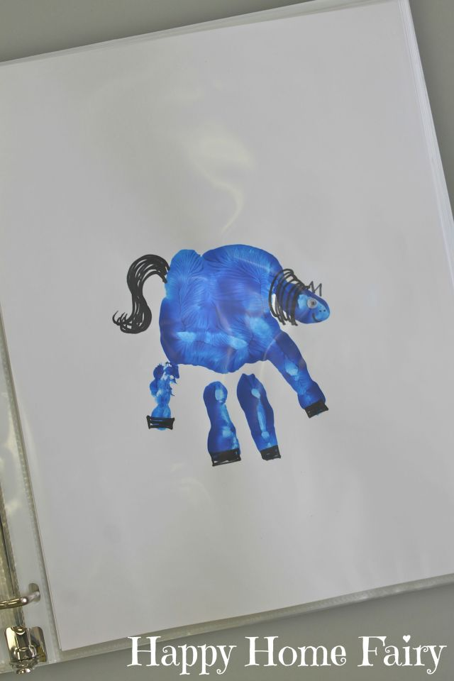 Brown Bear Blue Horse Handprint