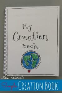 FREE Printable Creation Book Craft at happyhomefairy.com