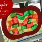These Apple Stained Glass Windows are GORGEOUS - and SO easy!