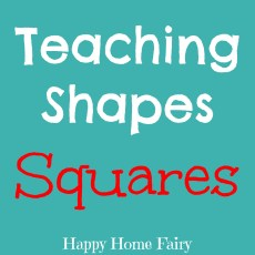 Teaching Shapes – Squares