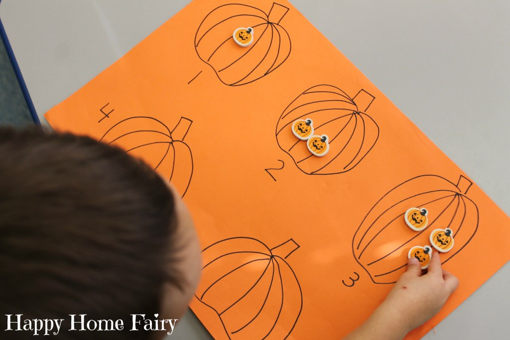 easy counting pumpkin activity 2