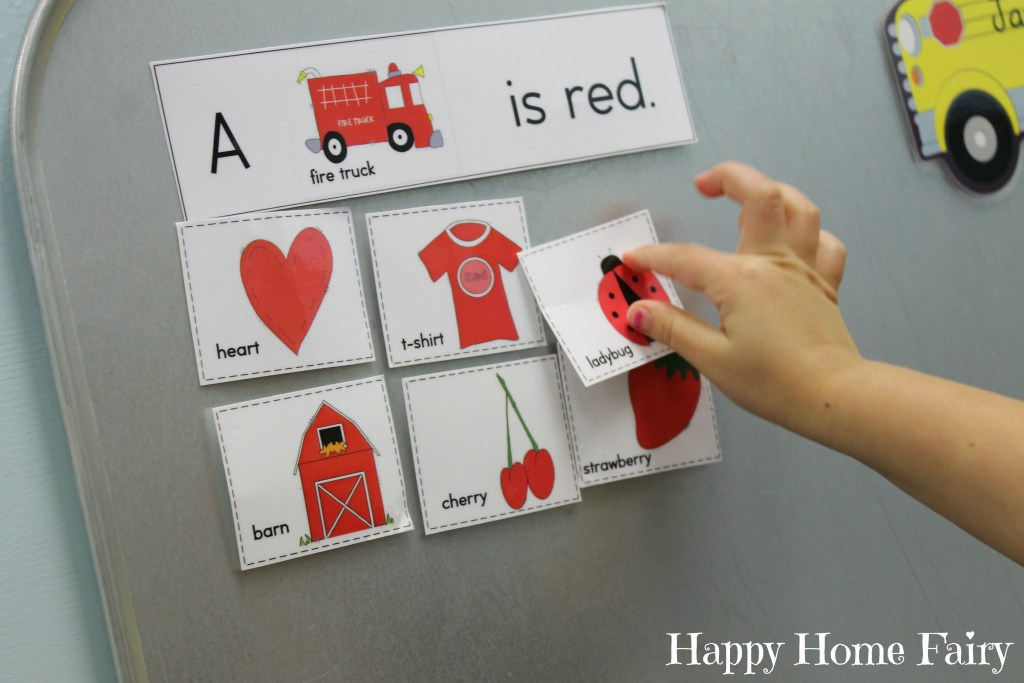 teaching colors - red 9