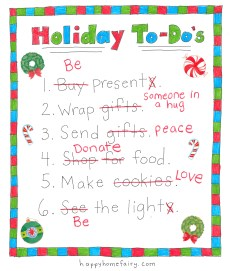 Your NEW Holiday To-Do List – FREE Printable