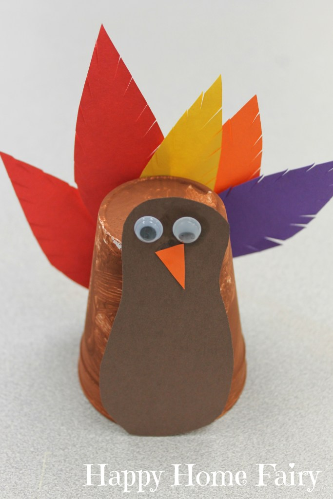 Super Easy Turkey Cup Craft 5