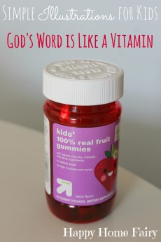 God's Word is Like a Vitamin – Simple Illustrations for Kids