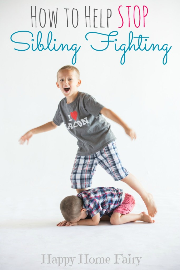 How to Help Stop Sibling Fighting