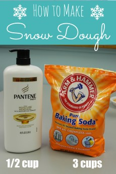 How to Make Snow Dough – ONLY 2 INGREDIENTS!