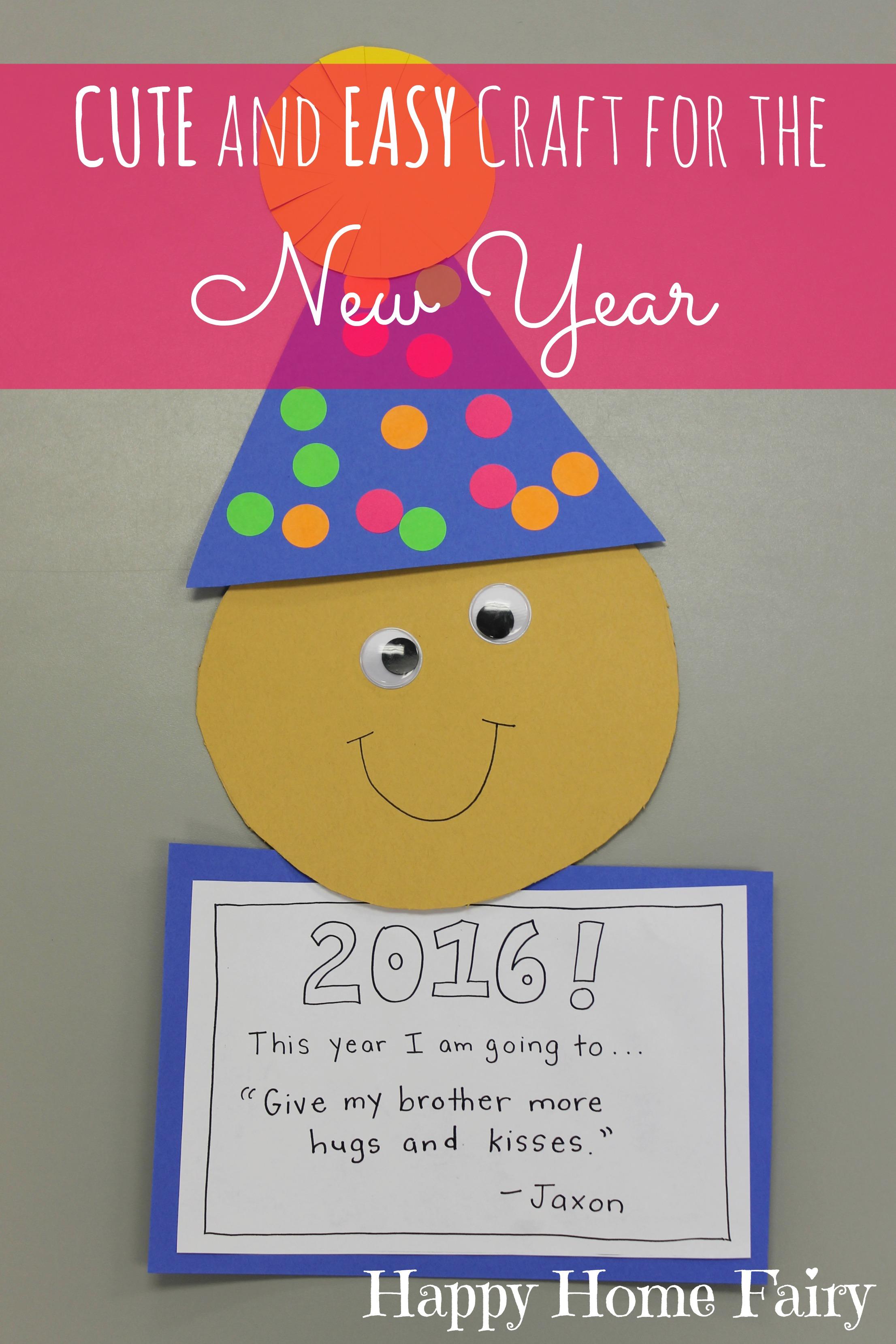 Easy New Year's Craft for Preschoolers - Happy Home Fairy [ 3318 x 2212 Pixel ]
