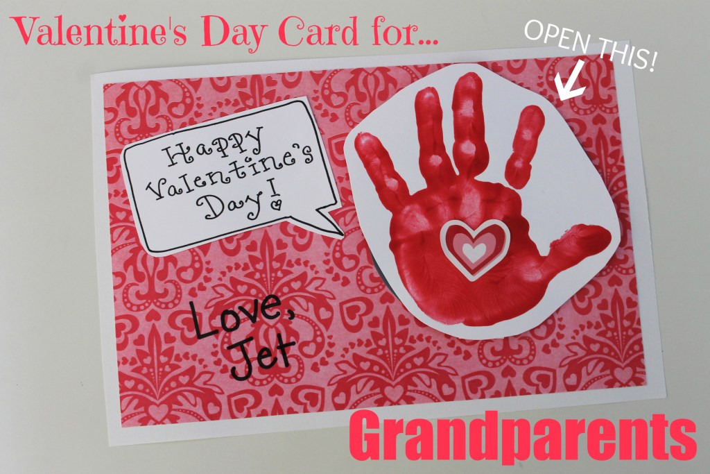 Adorable Valentine's Day card to grandparents or parents!