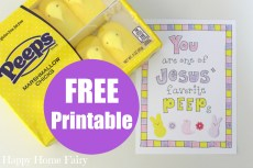 You Are One of Jesus' Favorite PEEPS – FREE Printable